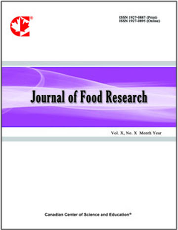 Home | Journal of Food Research | CCSE