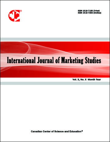 Home | International Journal of Marketing Studies | CCSE